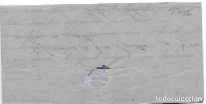 Sellos: EDIFIL 96. ENVUELTA CIRCULADA DE SABADELL AL CARTERO DE MOLLA ANOTADO CORREOS 1868 - Foto 2 - 267725964