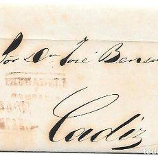Sellos: COSARIO PAUSADELA ENVUELTA CIRCULADA DE JEREZ A CADIZ 1857. Lote 267729469