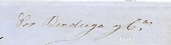 Sellos: COSARIO BERDUGO ENVUELTA CIRCULADA DE CADIZ A JEREZ 1861 - Foto 2 - 267730814