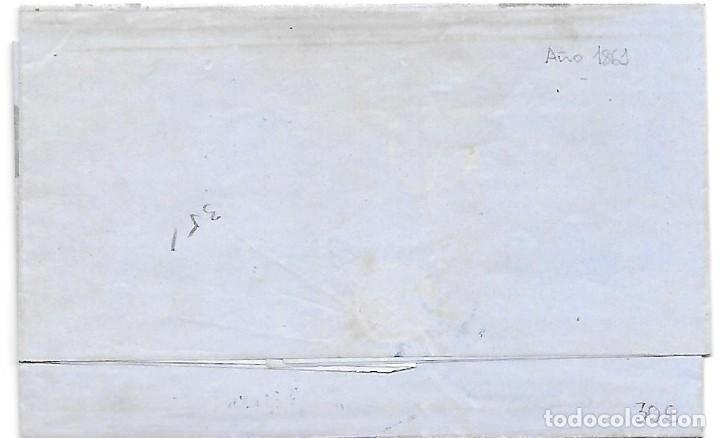 Sellos: COSARIO BERDUGO ENVUELTA CIRCULADA DE CADIZ A JEREZ 1861 - Foto 3 - 267730814