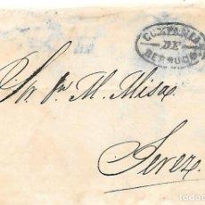 Sellos: COSARIO BERDUGO ENVUELTA CIRCULADA DE CADIZ A JEREZ 1856. Lote 267731114