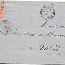 Sellos: EDIFIL 64. ENVUELTA DE CARTAGENA A MADRID 1864. Lote 267733089