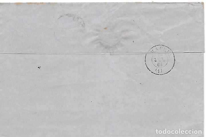 Sellos: EDIFIL 64. ENVUELTA DE CARTAGENA A MADRID 1864 - Foto 2 - 267733089