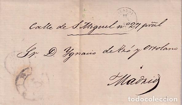 CARTA DE 1861 DE VALLADOLID A MADRID (Sellos - España - Isabel II de 1.850 a 1.869 - Cartas)