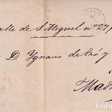 Sellos: CARTA DE 1861 DE VALLADOLID A MADRID. Lote 267782494