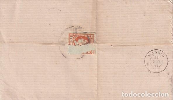 Sellos: CARTA DE 1861 DE VALLADOLID A MADRID - Foto 2 - 267782494