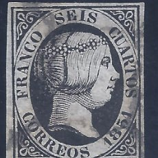 Francobolli: EDIFIL 6. ISABEL II. AÑO 1851. (VARIEDAD...ROTA LA I DE SEIS POR LA PARTE SUPERIOR).. Lote 268459039