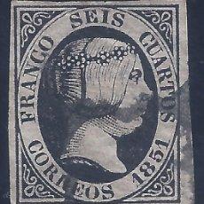 Francobolli: EDIFIL 6. ISABEL II. AÑO 1851. (VARIEDAD...ROTA POR ARRIBA LA SEGUNDA O DE CORREOS).) .. Lote 268463839