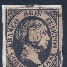 Francobolli: EDIFIL 6. ISABEL II. AÑO 1851. (VARIEDAD...ROTA POR ARRIBA LA SEGUNDA O DE CORREOS).) .. Lote 268464089