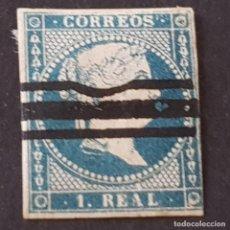 Sellos: ESPAÑA, 1856, ISABEL II, SIN FILIGRANA, EDIFIL 49, VARIEDAD BARRADO, ( LOTE AR ). Lote 268854669