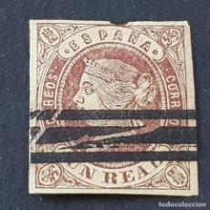 Sellos: ESPAÑA, 1862, ISABEL II, EDIFIL 61, VARIEDAD BARRADO, ( LOTE AR ). Lote 268868969