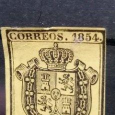 Sellos: ESPAÑA SELLOS ISABEL II EDIFIL 28 AÑO 1854 NUEVO BIEN CENTRADO. Lote 269294303