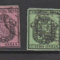 Sellos: 1854 ESCUDO ESPAÑA SERIE OFICIAL COMPLETA USADA/* 126 €. Lote 270198828