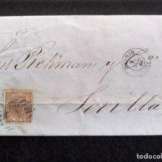 Sellos: CARTA CIRCULADA MADRID-SEVILLA, AÑO 1868. Lote 270199673