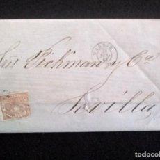 Sellos: CARTA CIRCULADA MADRID-SEVILLA, AÑO 1868. Lote 270199878