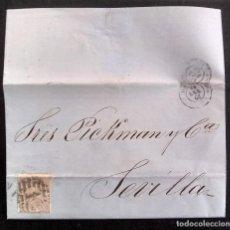 Sellos: CARTA CIRCULADA MADRID-SEVILLA, AÑO 1868. Lote 270200128