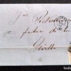 Sellos: CARTA CIRCULADA DE BILBAO A SEVILLA AÑO 1868. Lote 270200468