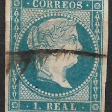 Sellos: ESPAÑA 1855 EDIFIL 49 USADO - 19/22. Lote 270981513