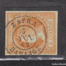 Francobolli: AÑO 1860 EDIFIL 52 4C ISABEL II MATASELLOS ZAFRA BADAJOZ TIPO II. Lote 275505093