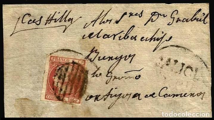 CARTA EDIFIL 12 ITB GALICIA PORRIÑO (Sellos - España - Isabel II de 1.850 a 1.869 - Cartas)