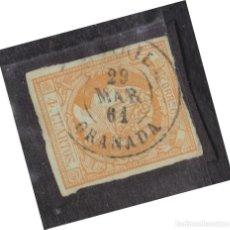 Selos: AÑO 1860 EDIFIL 52 4C ISABEL II MATASELLOS MOTRIL GRANADA TIPO II. Lote 275698028