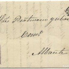 Sellos: 3/03/1869.MURCIA A ALBACETE, EDIFIL 98 MAT. RUEDA CARRETA 11 DE ALBACETE (ÚLTIMO AÑO DE USO). Lote 276685908