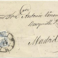 Sellos: 10/06/1870. VALLADOLID A MADRID, EDIFIL 107 MAT. RUEDA CARRETA 14. Lote 276919933