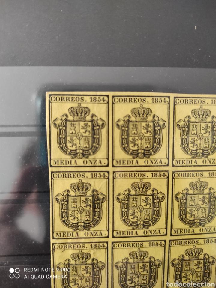 Sellos: 12 sellos sin uso en perfecto estado. Media onza correos 1854 - Foto 2 - 277112683