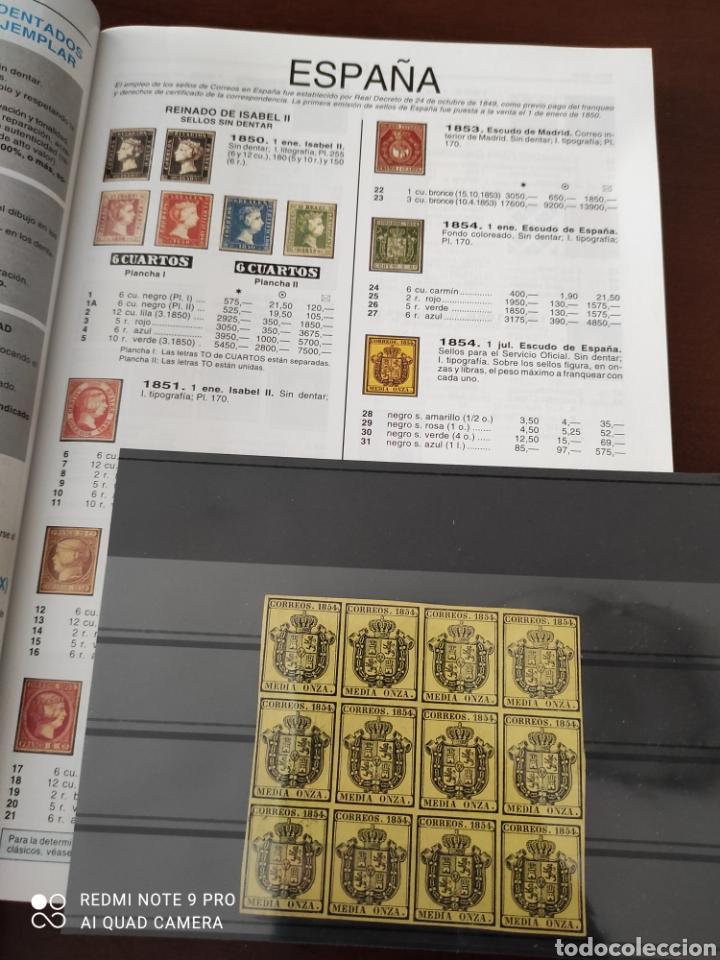 Sellos: 12 sellos sin uso en perfecto estado. Media onza correos 1854 - Foto 3 - 277112683