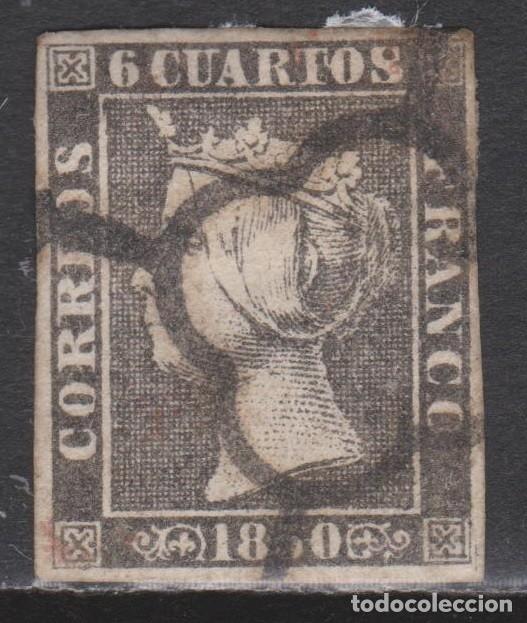 1850. ISABEL II 6 CUARTOS TIPO II PAPEL GRUESO. (Sellos - España - Isabel II de 1.850 a 1.869 - Usados)