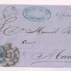 Sellos: ENVUELTA. SANTANDER, CANTABRIA. 1865. RUEDA DE CARRETA. Lote 277845888
