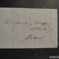 Sellos: CARTA DE TARRAGONA A REUS- AÑO 1866. Lote 278263268