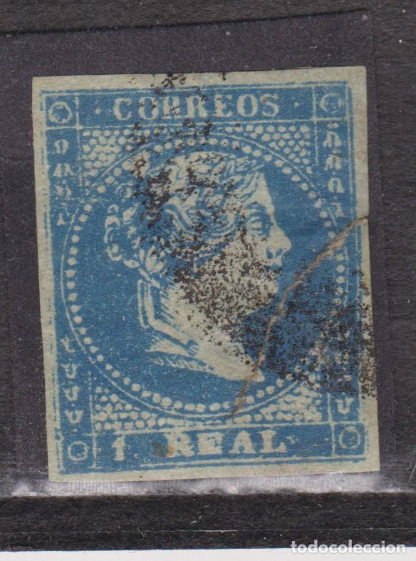 AÑO 1856 EDIFIL 49 1R ISABEL II ROTURA CIRCULAR (Sellos - España - Isabel II de 1.850 a 1.869 - Usados)