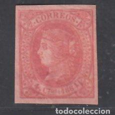 Sellos: ESPAÑA, 1864 EDIFIL Nº 64 /*/, 4 CU. ROJO S. SALMÓN.. Lote 282564038