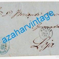 Francobolli: 1861, ENVUELTA DE CARTA DE MADRID A LOJA, FRANQUICIA DEL SENADO. Lote 284610968