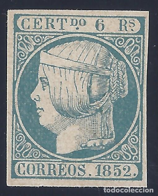 EDIFIL 16 ISABEL II. AÑO 1852. FALSO FILATÉLICO. (Sellos - España - Isabel II de 1.850 a 1.869 - Nuevos)