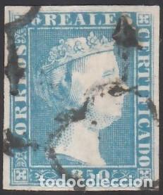ESPAÑA. 1850 EDIFIL Nº 4, 6 R. AZUL, CERTIFICADO CEM. (Sellos - España - Isabel II de 1.850 a 1.869 - Usados)