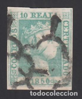 ESPAÑA. 1850 EDIFIL Nº 5, 10 R. VERDE (Sellos - España - Isabel II de 1.850 a 1.869 - Usados)