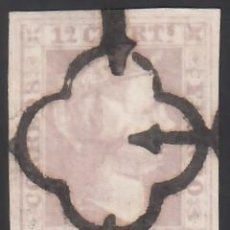 Sellos: ESPAÑA. 1850 EDIFIL Nº 2, 12 CU. LILA, CERTIFICADO COMEX.. Lote 286708993