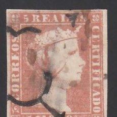 Sellos: ESPAÑA. 1850 EDIFIL Nº 3, 5 R. ROJO.. Lote 286710303