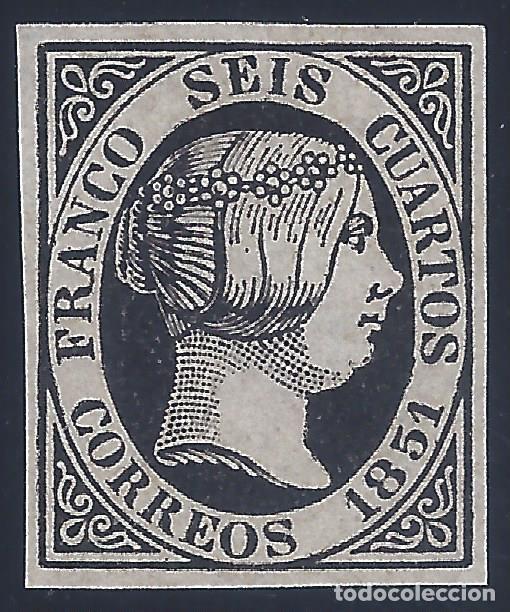 EDIFIL 6 ISABEL II. AÑO 1851. FALSO FILATÉLICO. (Sellos - España - Isabel II de 1.850 a 1.869 - Nuevos)
