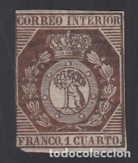 ESPAÑA. 1853 EDIFIL Nº 22 (*), 1 CU. BRONCE (Sellos - España - Isabel II de 1.850 a 1.869 - Nuevos)
