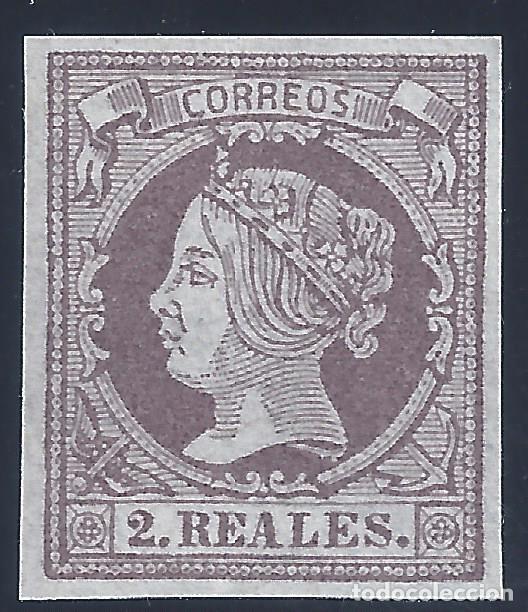 EDIFIL 56 ISABEL II. AÑO 1860. FALSO FILATÉLICO. (Sellos - España - Isabel II de 1.850 a 1.869 - Nuevos)