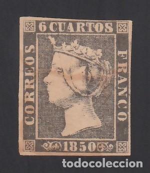 ESPAÑA. 1850 EDIFIL Nº 1A, 6 CU. NEGRO, TIPO II (Sellos - España - Isabel II de 1.850 a 1.869 - Nuevos)