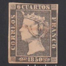 Sellos: ESPAÑA. 1850 EDIFIL Nº 1A, 6 CU. NEGRO, TIPO II. Lote 286846073