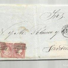 Sellos: CIRCULADA Y ESCRITA VENTA BREA Y ALQUITRAN 1858 DE VALLADOLID A SANTANDER. Lote 287263223