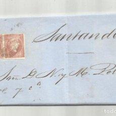 Sellos: CIRCULADA Y ESCRITA 1858 DE PORTOLIN TORRELAVEGA A SANTANDER. Lote 287264918
