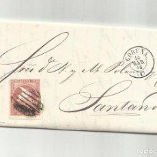 Sellos: CIRCULADA Y ESCRITA NEGOCIOS HARINA 1858 DE CORUÑA A SANTANDER. Lote 287267823
