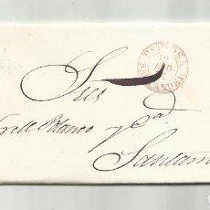 Sellos: CIRCULADA Y ESCRITA NEGOCIOS TRIGO 1858 DE REINOSA A SANTANDER. Lote 287268378