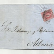 Sellos: CIRCULADA Y ESCRITA 1864 DE MADRID A ALBACETE. Lote 287309458